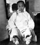 Foot binding (pinyin: chanzu, literally 'bound feet') was a custom practiced on young girls and women for approximately one thousand years in China, beginning in the 10th century and ending in the first half of 20th century. There is little evidence for the custom prior to the court of the Southern Tang dynasty in Nanjing, which celebrated the fame of its dancing girls, renowned for their tiny feet and beautiful bow shoes.<br/><br/>  What is clear is that foot binding was first practised among the elite and only in the wealthiest parts of China, which suggests that binding the feet of well-born girls represented their freedom from manual labor and, at the same time, the ability of their husbands to afford wives who did not need to work, who existed solely to serve their men and direct household servants while performing no labor themselves. Bound feet were considered intensely erotic in traditional Chinese culture. Qing Dynasty sex manuals listed 48 different ways of playing with women's bound feet.<br/><br/>  Some men preferred never to see a woman's bound feet, so they were always concealed within tiny 'lotus shoes' and wrappings. Feng Xun is recorded as stating, 'If you remove the shoes and bindings, the aesthetic feeling will be destroyed forever' - an indication that men understood that the symbolic erotic fantasy of bound feet did not correspond to its unpleasant physical reality, which was therefore to be kept hidden. For men, the primary erotic effect was a function of the lotus gait, the tiny steps and swaying walk of a woman whose feet had been bound.